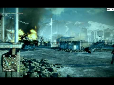 Battlefield Bad Company 2 PC Beta Gameplay