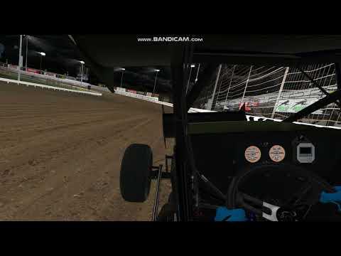 iRacing dirt 410: Knoxville Raceway 14.981 hot lap