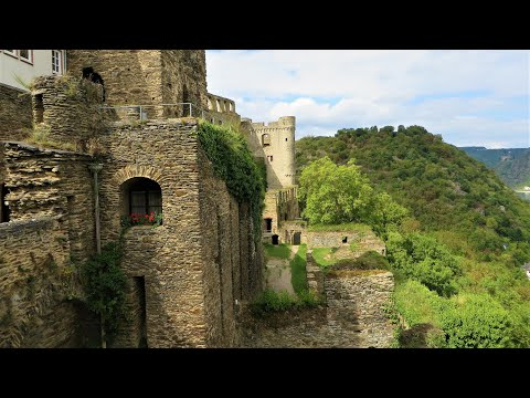 Burg Rheinfels (Rheinfels Castle) medieval ruins on the Rhine River, Germany