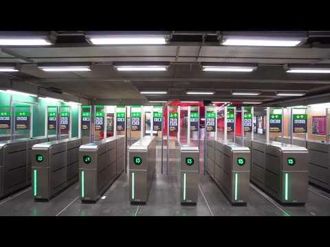Sweden, Stockholm, Solna Centrum subway station, 2X elevator, 5X escalator