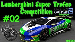 Lamborghini Super Trofeo Competition #02 - Project Cars 2 + Thrustmaster Tx