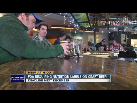 FDA to require nutrition labels on craft beers