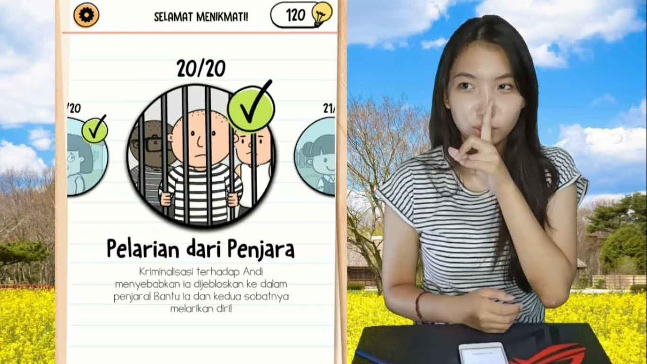 Kunci Jawaban Brain Test 2 Pelarian Dari Penjara Level 1 20 Bahasa Indonesia Youtube