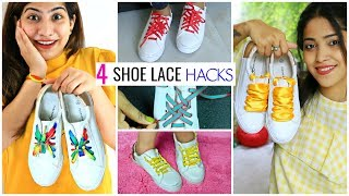 4 DIY SHOE LACE HACKS  Creativ…