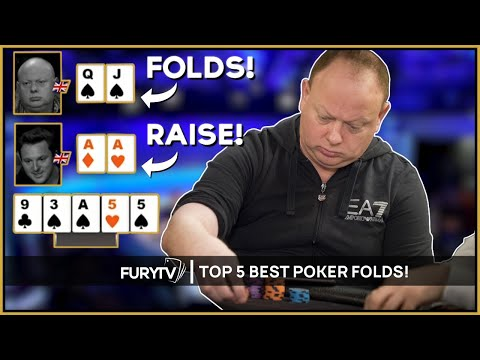 TOP 5 MOST AMAZING POKER FOLDS EVER!
