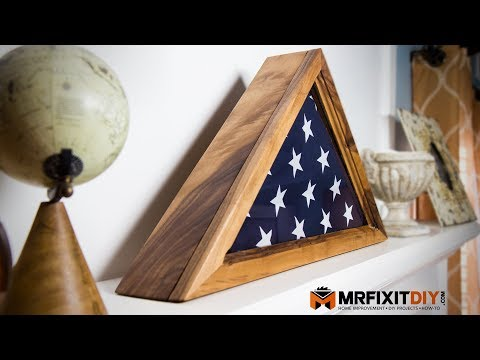 How To Build A Memorial Flag Display Case