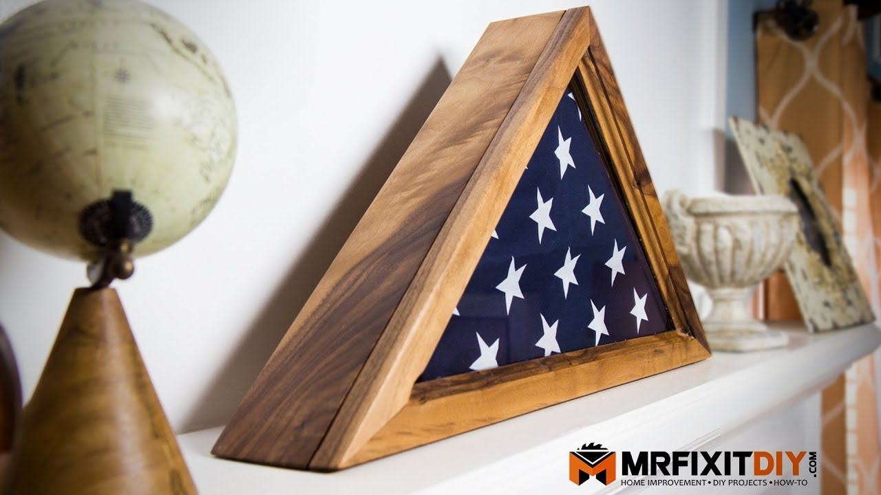 How To Build A Memorial Flag Display Case Youtube