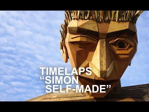 Giant scrap wood sculpture - Timelaps