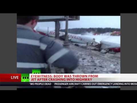 Russia plane crash: Tu-204 crashes into highway near Moscow's Vnukovo airport