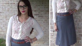 OOTD: Business Casual Fall Skirt & Cardigan