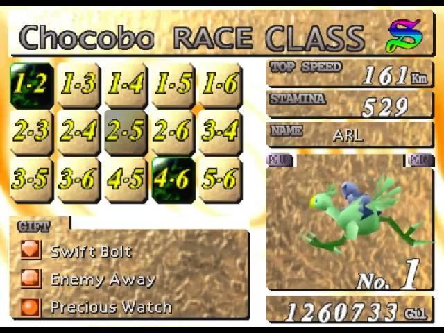 final fantasy 7 chocobo racing betting calculator