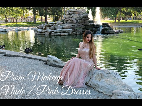 prom-makeup-  -nude-/-pink-dresses