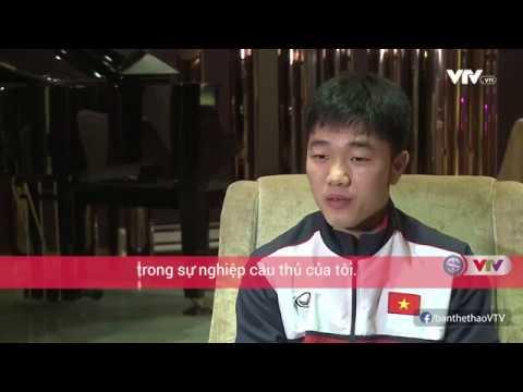 Đội trưởng Lương Xuân Trường trả lời phỏng vấn AFC bằng tiếng Anh