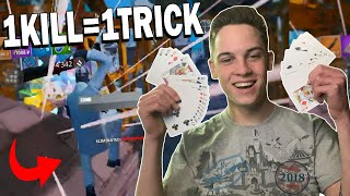 Doing a MAGIC TRICK After Every ELIMINATION on Fortnite Mobile!