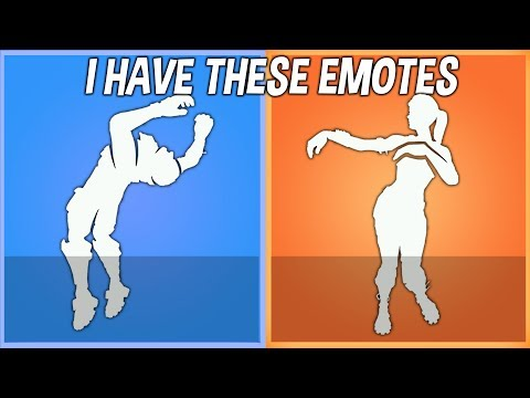 I Have These Season 5 Emotes That No One Has In Fortnite..!