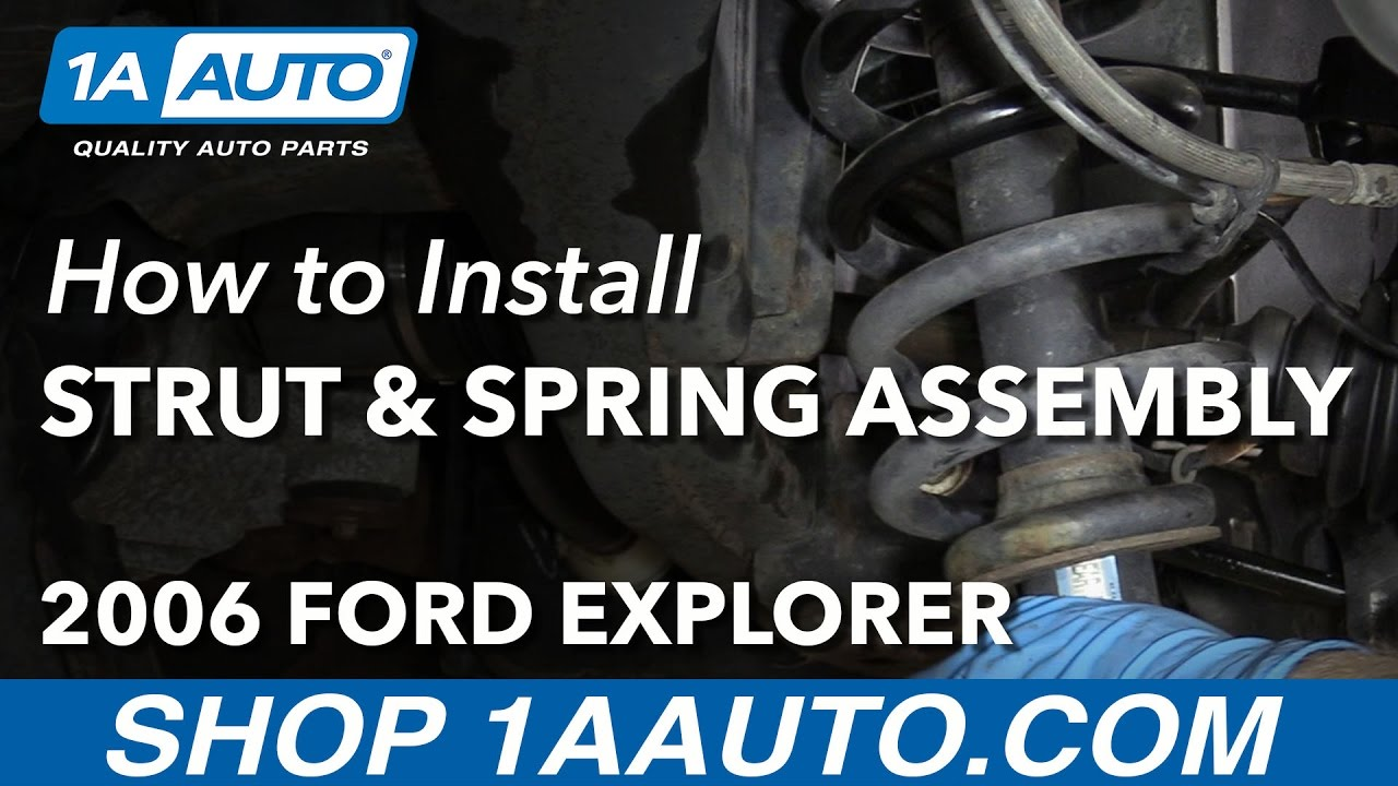 How To Install Replace Rear Strut Spring Assembly 2006 10 Ford