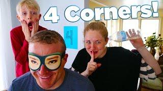 Playing 4 Corners! Becca Cheated! Family Fun Game Idea / The Beach House