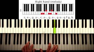 How to play: Eminem - The real slim shady. Original Piano lesson. Tutorial by Piano Couture.