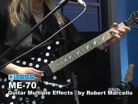 Rob Marcello performs with the BOSS ME-70
