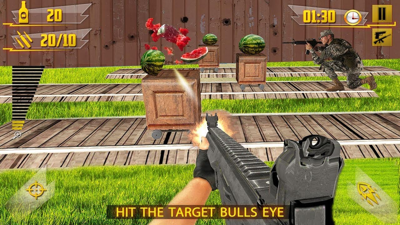 water melon shooter: us army apple shooting game android gameplay hd