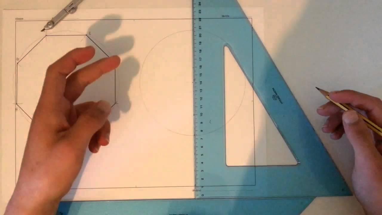 06 costruzione di un ottagono dato il lato e inscritto for Ottenere un prestito di costruzione