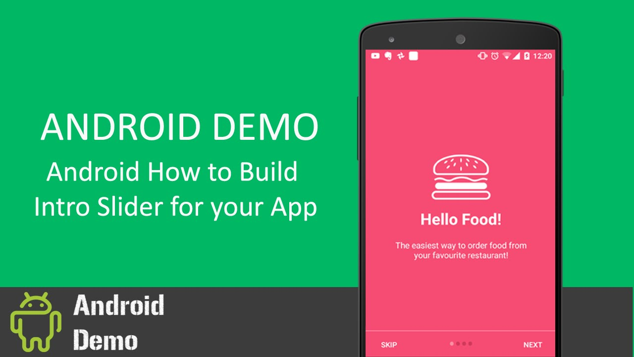 Android Demo - Android Building Welcome / Intro Slider for your App - Nexus  5