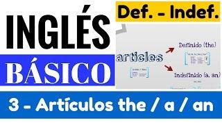 Uso de artículos the a an en inglés definido e indefinido. Inglés para principiantes lección 3 de 15