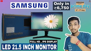 Samsung 21 5inch led monitor unboxing Full HD IPS display amazon prime sale only in Rs 6750
