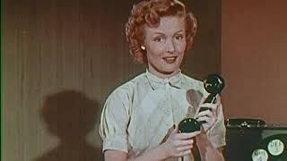 1950 DIALING TIPS - How to use a rotary dial phone