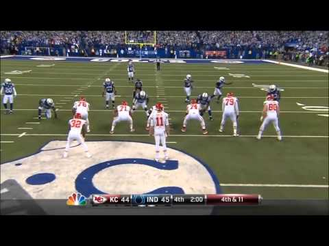 Colts Chiefs TOP 3 PLAYS - TV Video with Bob Lamey audio - w/ a little Fan video