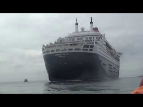 Rib boat ride Guernsey 2016 (Queen Mary 2)