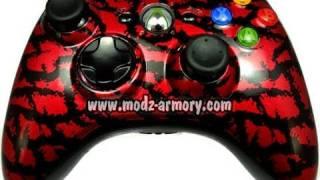 Red Tiger (Metallic) Xbox 360 Controller