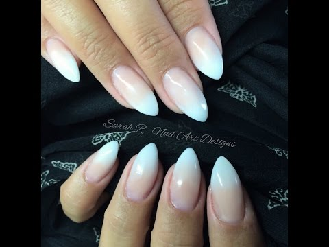 Baby Boomer: Faded Ombre French Acrylic Nails