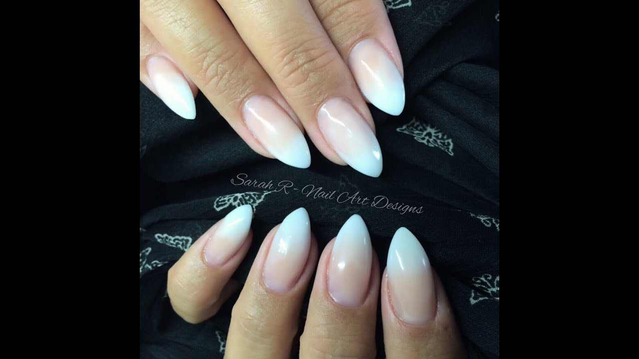 Baby Boomer | Faded Ombré French Acrylic nails | Ink London Acrylink ...