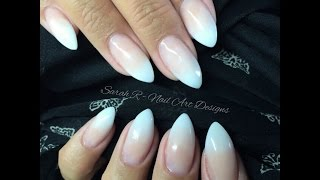 Baby Boomer | Faded Ombré French Acrylic nails | Ink London Acrylink