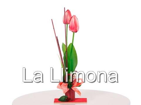 Arreglos Florales Arreglo Floral Tulipanes Artificiales Fucsia 31 La Llimona