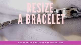 How to remove liฑks and resize a watch with a folded link bracelet