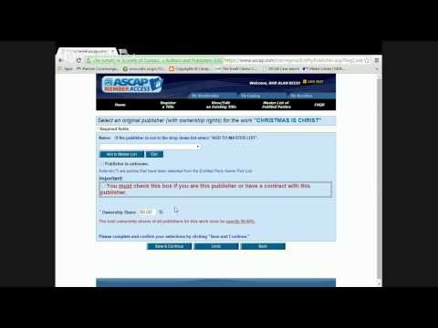 How To Register A Song At ASCAP