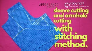 how to armhole cutting and sleeve cutting  with stitching method [perfect armhole drafting]