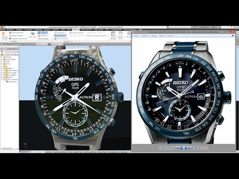 Autodesk Inventor Montre SEIKO GPS  (Speed Art)