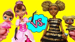 LOL Families ! Fancy vs. Queen Bee Moms | Toys and Dolls Fun Pretend Play for Kids | SWTAD