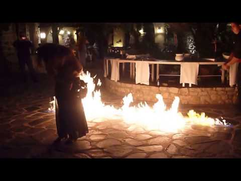 GREEK DANCE & DINNER SHOW WITH FIRE - Gourmet and Wine Tour
