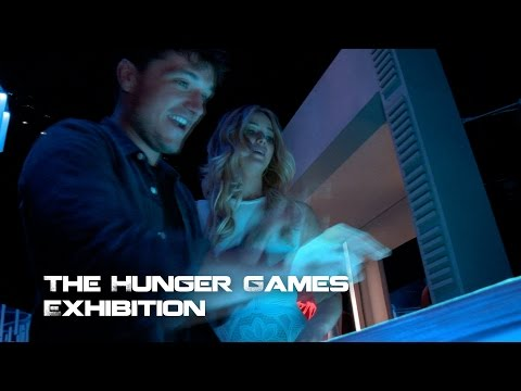 Jennifer Lawrence And Josh Hutcherson At The Hunger Games Exhibition