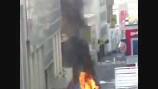 البحرين المخربين يفجرون أنبوبة غاز وسط الاحياء.flv