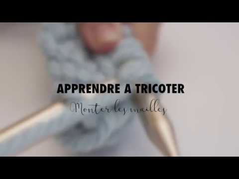Apprendre tricoter monter les mailles youtube - Apprendre a monter des mailles ...