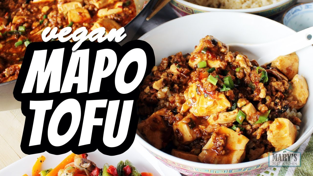 VEGAN MAPO TOFU RECIPE | Mary's Test Kitchen