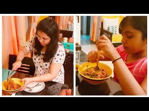 Daughter's Favourite Dinner Vlog | Veg Hakka Noodles & Gobi Manchurian Recipe | Maitreyee's Passion