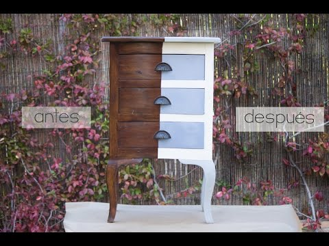 Pintar un mueble con chalk paint en spray - YouTube