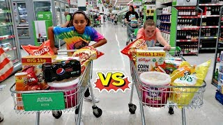TIANA'S  GROCERY SHOPPING CHALLENGE!!
