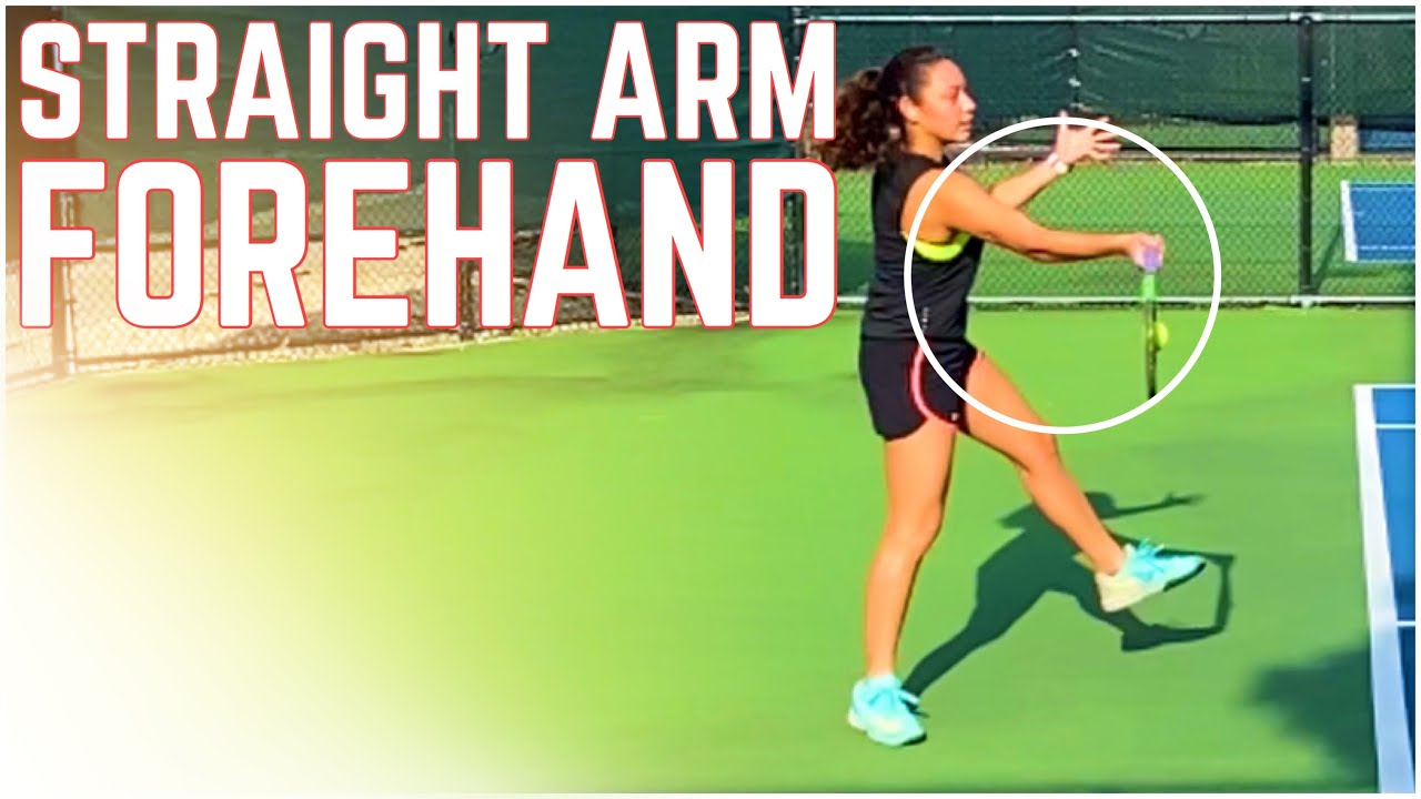 Straight Arm Forehand Tennis Technique (why it has to be intuitive)